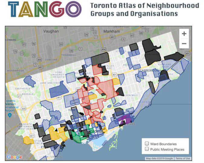 TANGO digital map