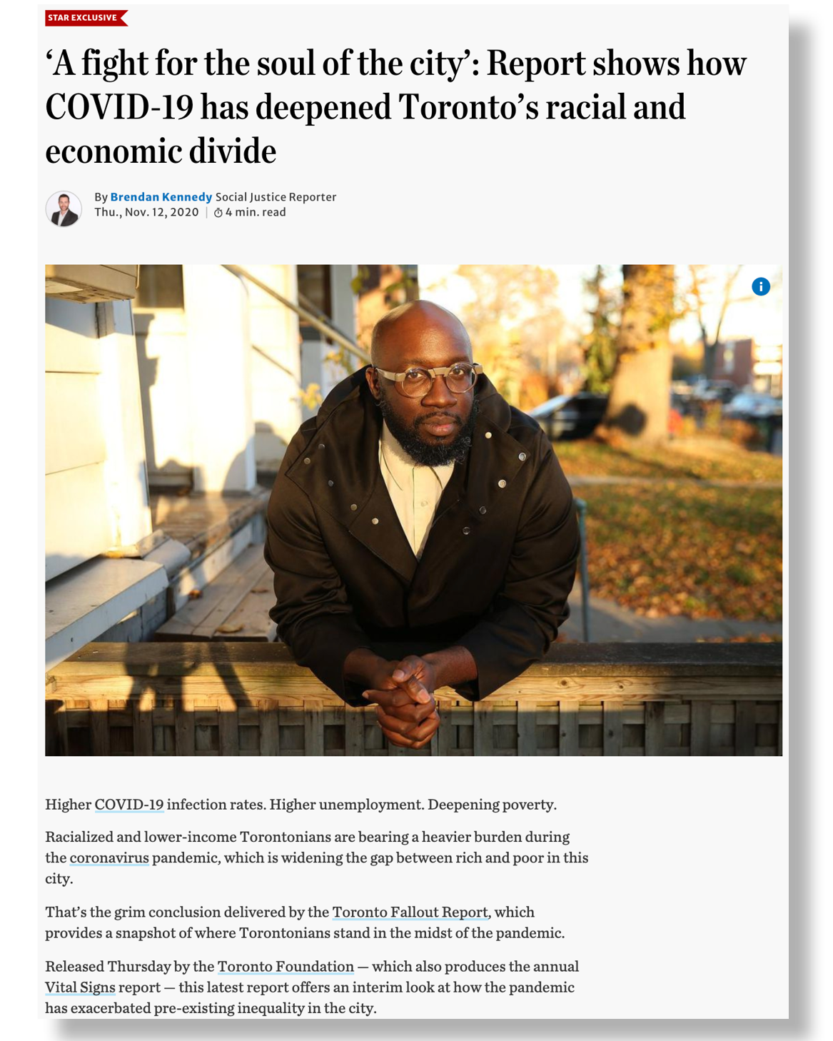 Toronto Star clipping 1