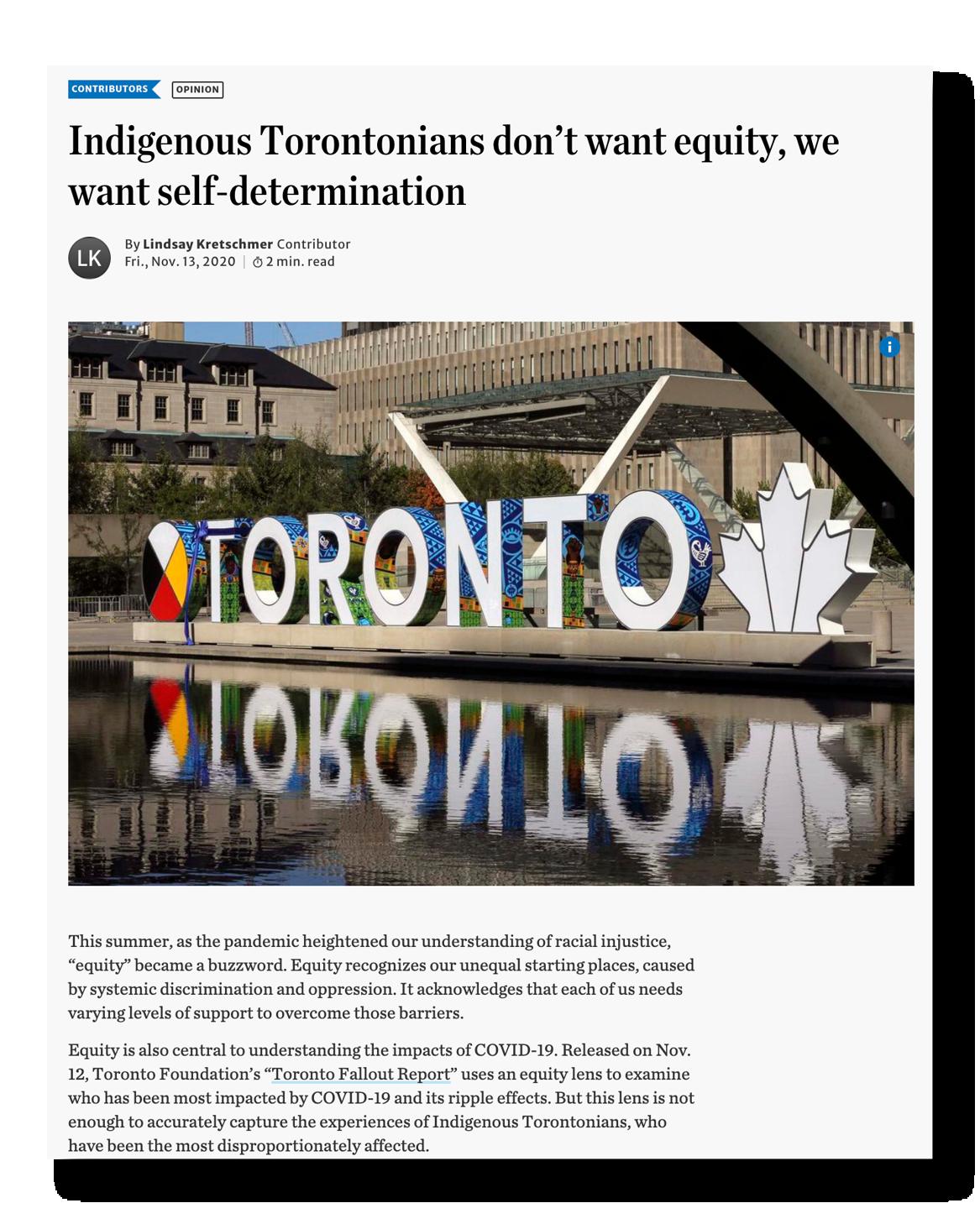 Toronto Star clipping 2