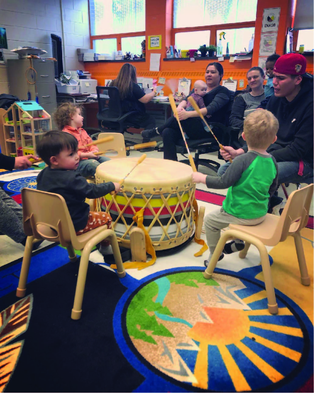 ENAGB hosts the EarlyON Program, where youth sing and teach the younger generations.