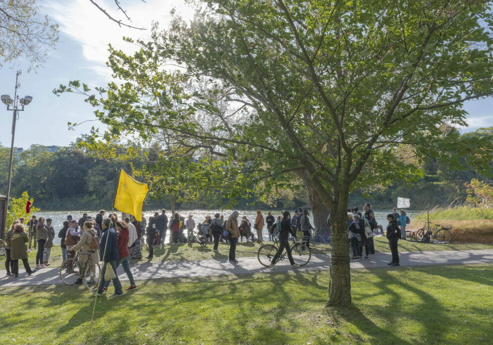 Indigenous Land Stewardship Circle organized a Silent Action and Ceremony held at Grenadier Pond in High Park.